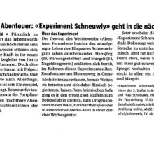 Experiment Schneuwly – Berner Landbote vom 19.12.2018