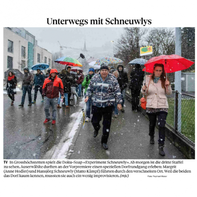 Experiment Schneuwly – Berner Zeitung vom 21.12.2018