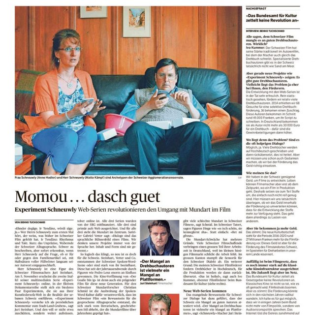 Experiment Schneuwly – Aargauer Zeitung vom 30.10.2015