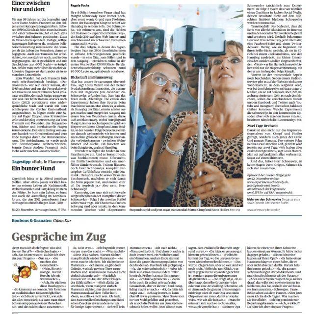 Experiment Schneuwly – Der Bund vom 7.11.2015
