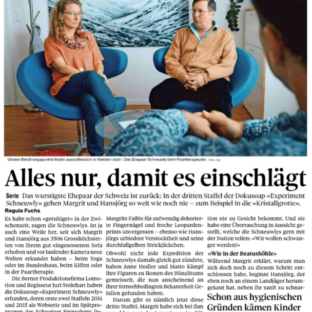 Experiment Schneuwly – der Bund vom 18.12.2018