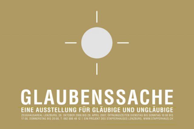 «Glaubenssache» Ausstellung im Stapferhaus